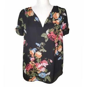 🆕️ Stitchfix Daniel Rainn Floral V-neck Sheer Top